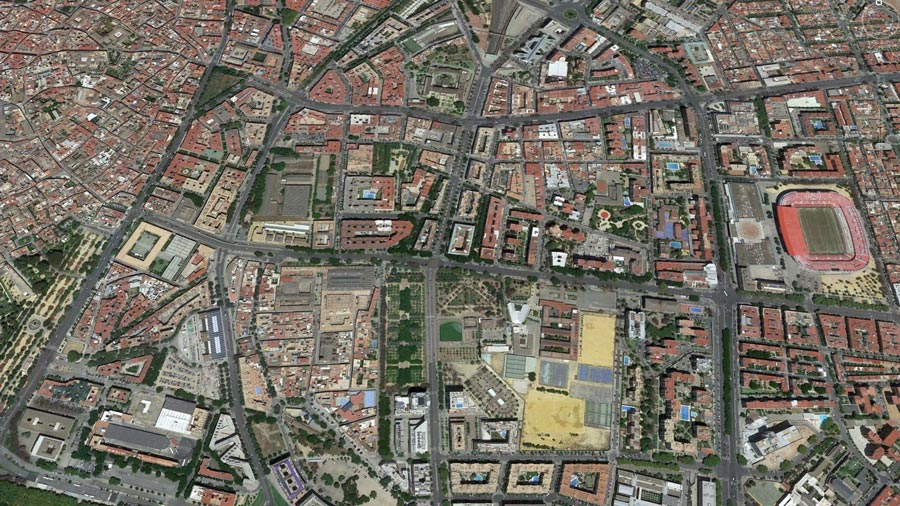 Zona Nervión (Sevilla) – Vista aérea